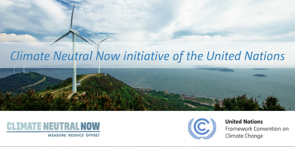 Climate Neutral Now initiative of the United Nations